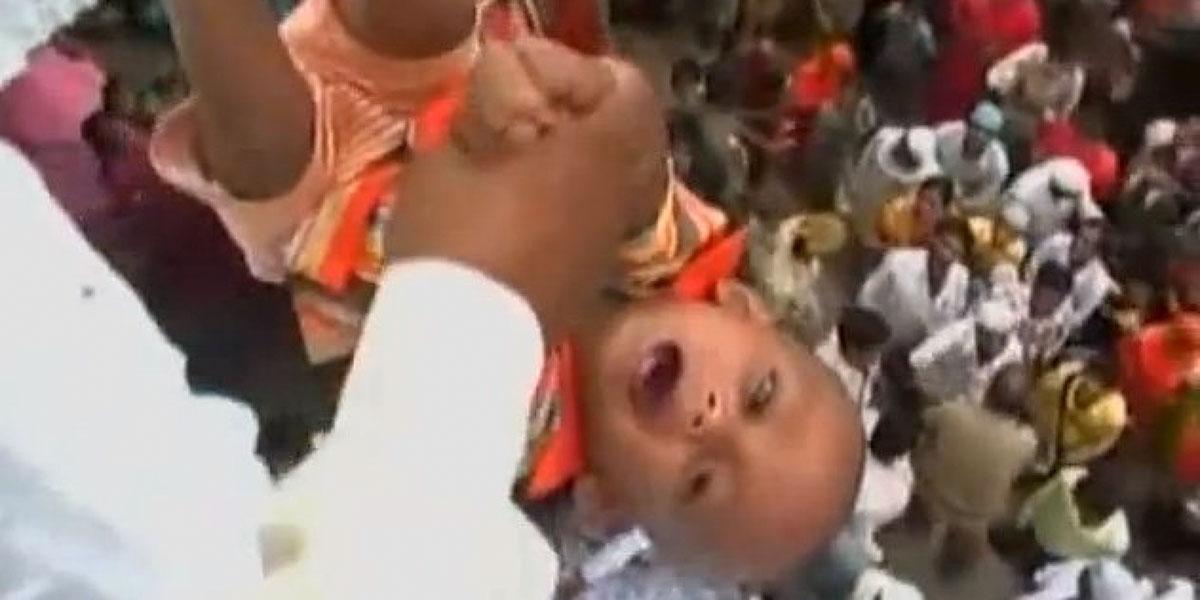 Karnataka baby throwing