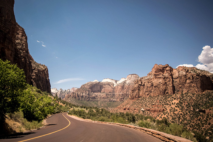 can you see zion by car