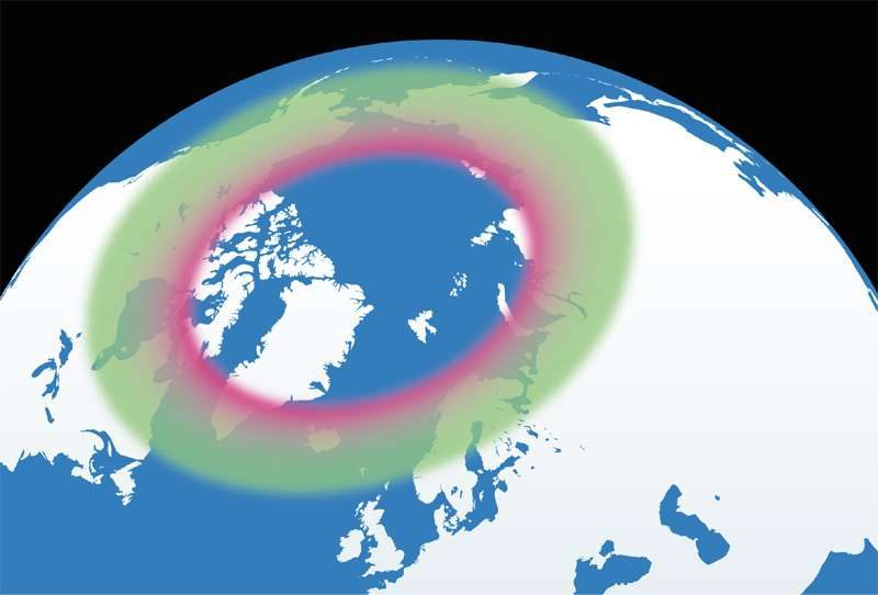northern lights auroral oval