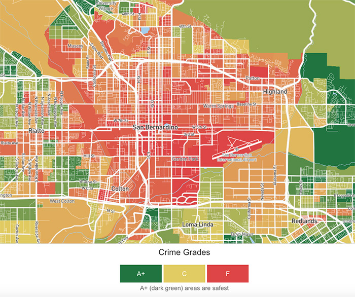 san bernardino crime map