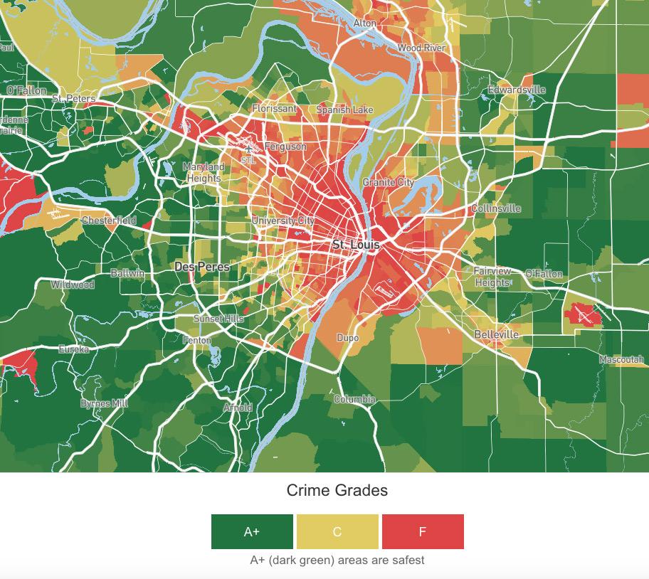 st louis crime map